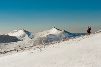 Bieszczady Połonina Wetlińska zimą Ewa Szydłowska Masaże ajurwedyjskie i orientalne w Bieszczadach